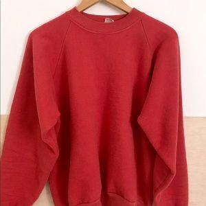 Vintage Hadway Faded Red Sweatshirt